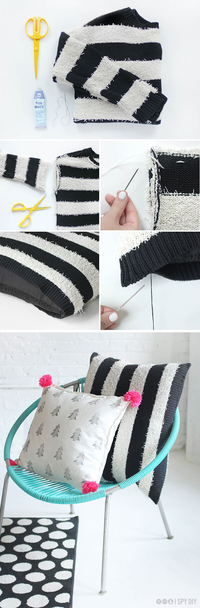 DIY | B&W Pillow | #f21home