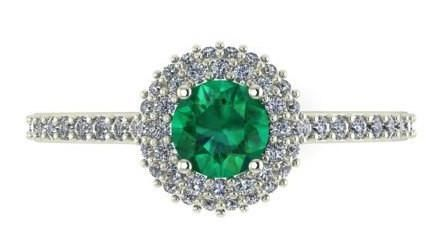 wedding emerald ring, Wedding Diamond ring, proposal ring, NATURAL EMERALD RING – Engagement Rings