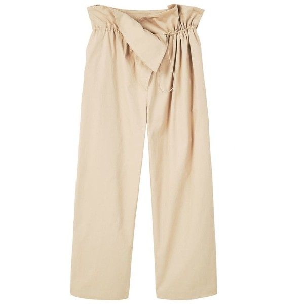 Adjustable Waist Trousers (€69) ❤ liked on Polyvore featuring pants, pink trousers, cotton pants, mango trousers, pink pants and drawstring waist pants
