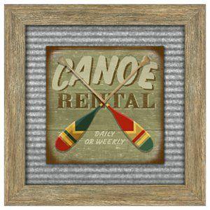Reflective Art Canoe Rental Framed Art