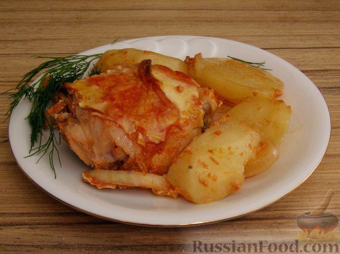 Фото приготовления рецепта: Запеченная курица с имбирем и чесноком - шаг №9