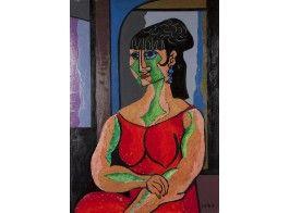 Erik Enroth (1917-1975)*  Olga, öljy, sign. -71, 117x80