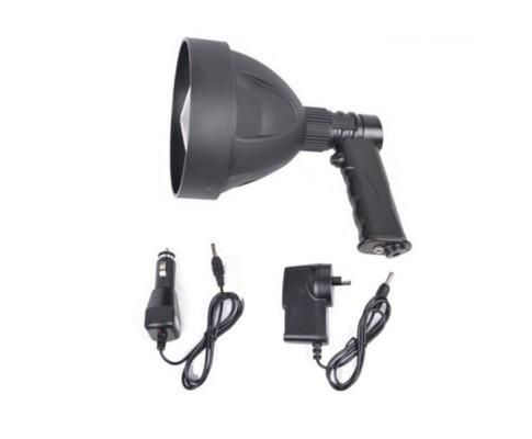Are you prepared for your next adventure?  Got a reliable, handy rechargeable spotlight? Whether your hunting, camping, hiking, 4 wheel driving, touring, fishing.. a good light is a must! You need this handheld rechargeable spottie! On/Off switch for operator comfort and durability. Weather-proof, dust-proof, corrosion-proof and shock-proof. Typical uses include hunting, fishing, boating, camping, security, military and police,Emergency services, driving lights, trucks, cars, utilities,...
