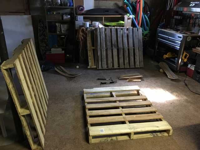 Made A Pallet Lounge Tree Swing And It S Awesome Pallet