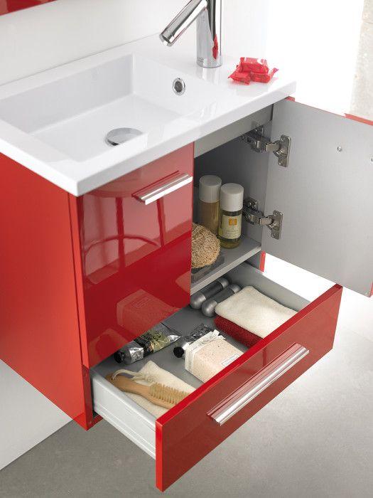Las 25 mejores ideas sobre gabinetes de ba o en pinterest - Muebles de bano rojos ...