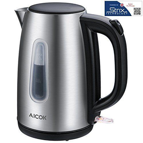 Aicok Bouilloire Électrique Inox, Bouilloire en Acier Inoxydable Avec Thermostat, Ébullition Rapide pour Bouilloire à Thé et à café,…