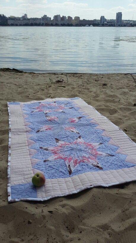 Пляжный коврик из немецких тканей .Стежка свободноходовая.