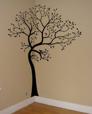"""BLACK MATTE MATERIAL: Large 6ft Tree Wall Decal with 18"""" trunk extension:Amazon:Everything Else"""