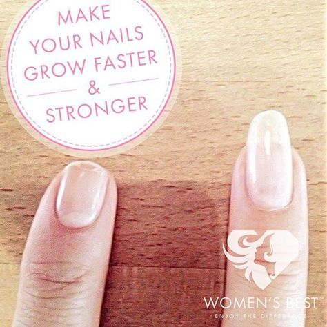 - MAKE YOUR NAILS GROW FASTER AND STRONGER! -  Do you suffer from slow or poor nail growth, brittle nails, breakage, splitting and other nail problems? Then we have good news: You don't have to spend your whole money on acrylic nails or manicure to have long, strong, and healthy looking nails.  We show you the best natural home remedies for nail growth that really work!  COCONUT OIL & HONEY  Warm three teaspoons of coconut oil and one teaspoon of honey in the microwave for about 20…