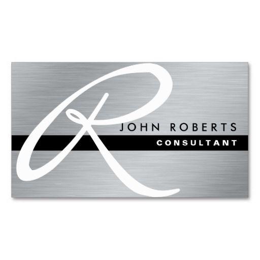 277 best attorney business cards images on pinterest lyrics text monogram professional elegant modern silver metal business card colourmoves