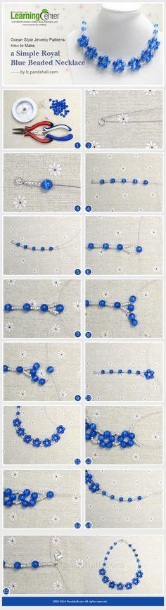 Collar de flores de perlitas