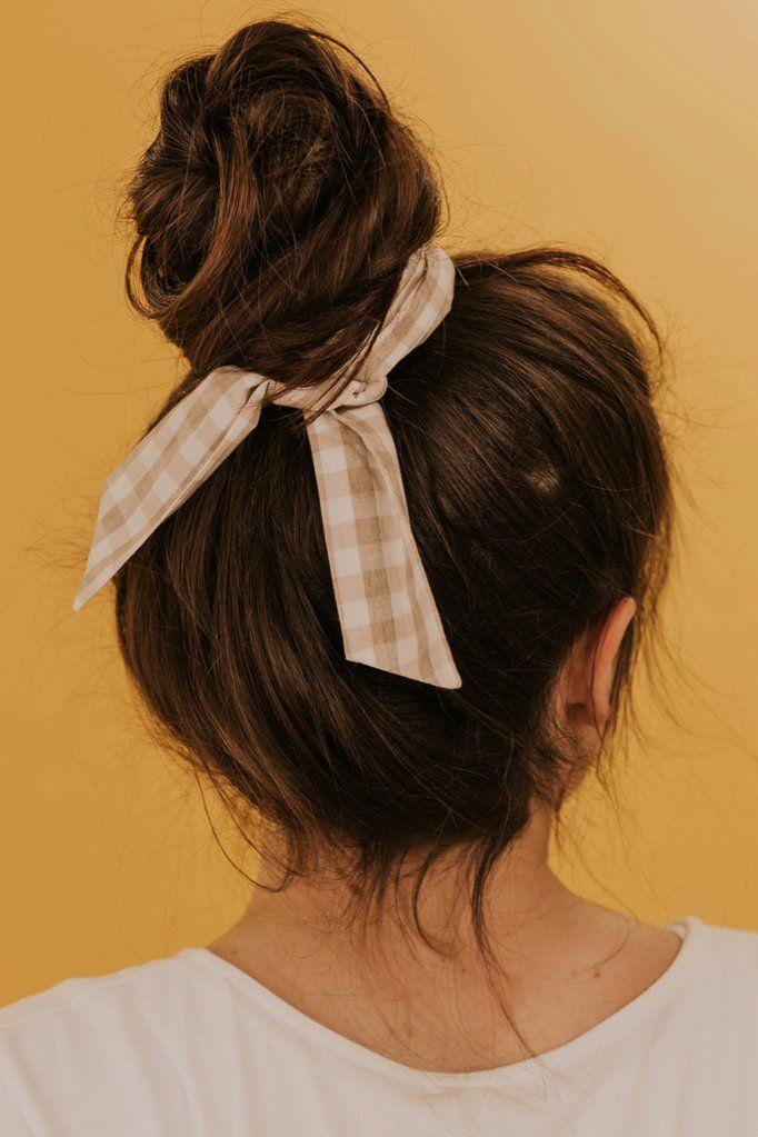 Kenner Gingham Hair Tie Hair Styles Hair Ties Curly Hair Styles
