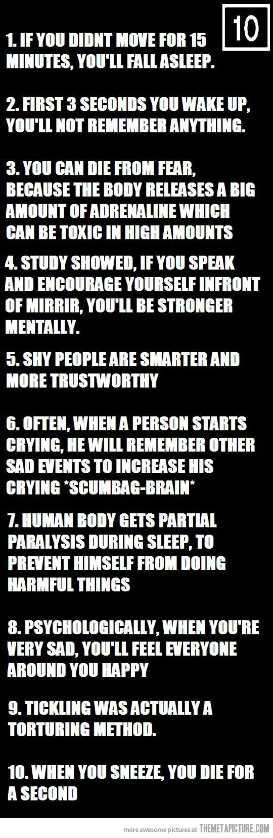 Yeah! Psychological facts b***h!: