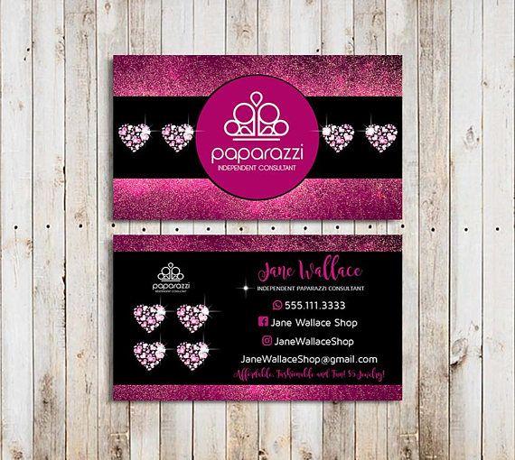 Paparazzi Business Cards Paparazzi Jewelry Paparazzi Accessories Paparazzi Consultant Black And Pi Boutique Business Cards Glitter Business Cards Card Template