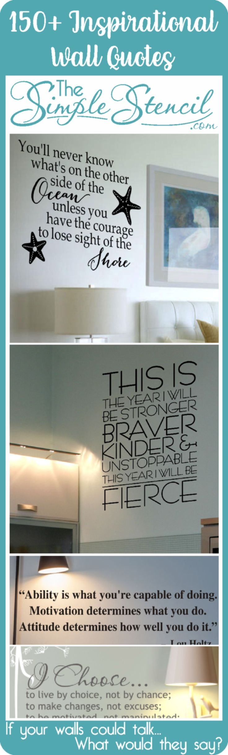 Best 25 wall stencil quotes ideas on pinterest cricut stencils a collection of over 150 inspiring wall quotes to help you ring in the new year amipublicfo Image collections