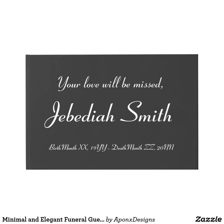 Minimal and Elegant Funeral Guestbook