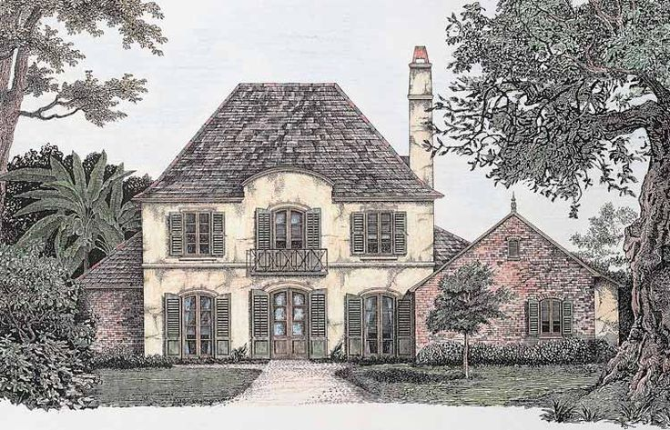 French Country House Plan with 3658 Square Feet and 4 Bedrooms from Dream Home Source | House Plan Code DHSW54436