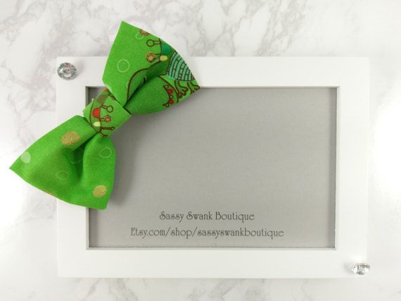 Dinosaur Clip On Bow Tie  Baby Clip On Bow by SassySwankBoutique