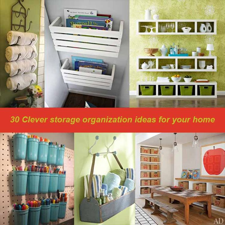 DIY Organization Ideas | Clever Storage Ideas30