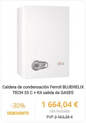 CALDERA DE CONDENSACIÓN FERROLI BLUEHELIX TECH 35 C + KIT SALIDA DE GASES