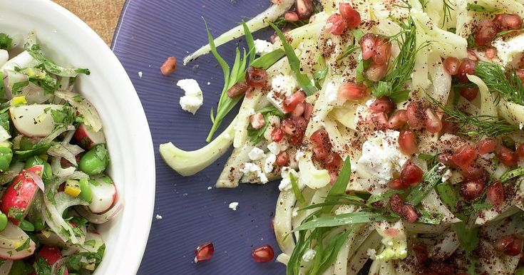 Make Ottolenghi's crisp Fennel and Feta Salad with Pomegranate Seeds and Sumac. The perfect winter salad that bursts with crunches of texture and flavour. Serve alongside grilled meat or just on it's own.