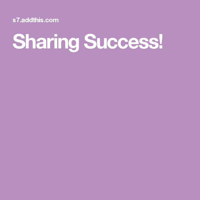 Sharing Success!