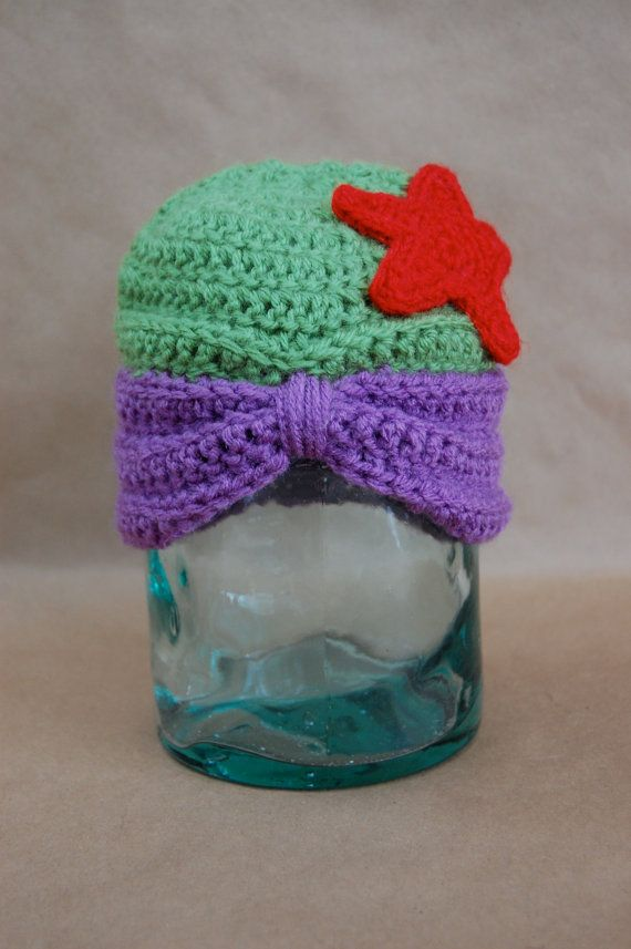 Disney Princess Ariel Inspired Crochet Hat by ImCountingCreations, $25.00 @victoriachristian