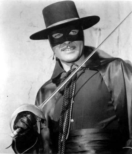 .Zorro. A fictional character that has been around since 1919. Always busy defending the people of the land....