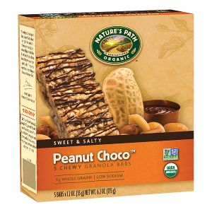 Peanut Choco™ Granola Bars | Nature's Path  (*has small amount of molasses at end of ingredient list, but should be tolerated by most)