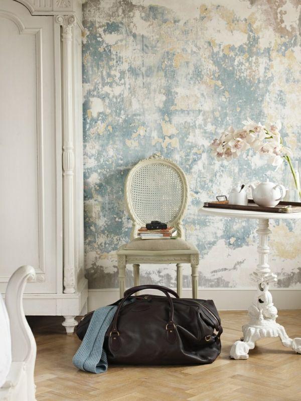 Wandgestaltung Farbe wände gestalten klassisch muster