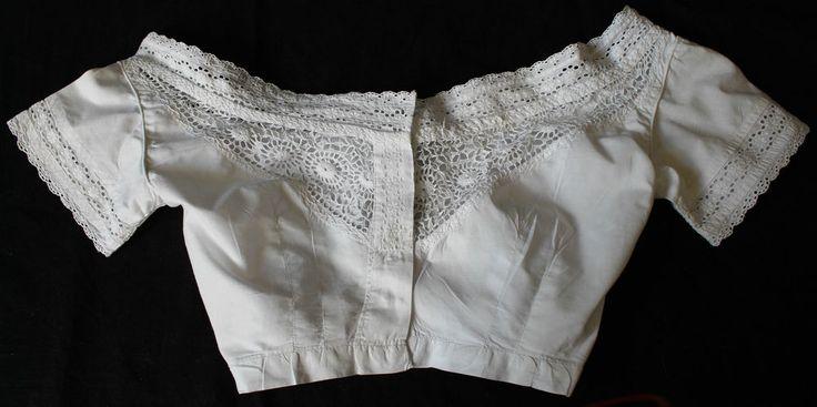 Antique Victorian 1860s corset cover