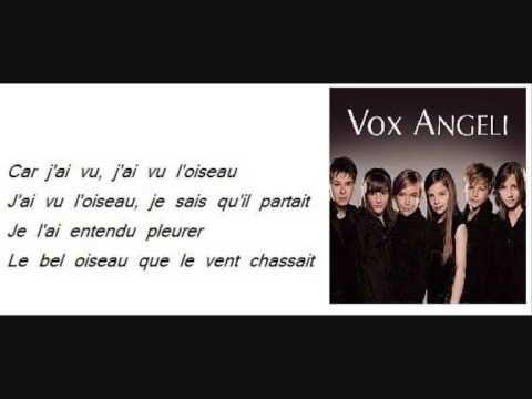 Vox Angeli L'oiseau (Belle et Sebastien)  Lyric - Magnifique interpretation by Vox Angeli