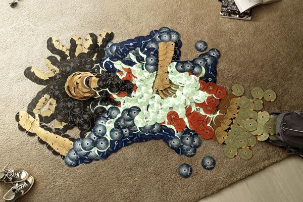 Rock Icons Reborn Via CD Mosaics