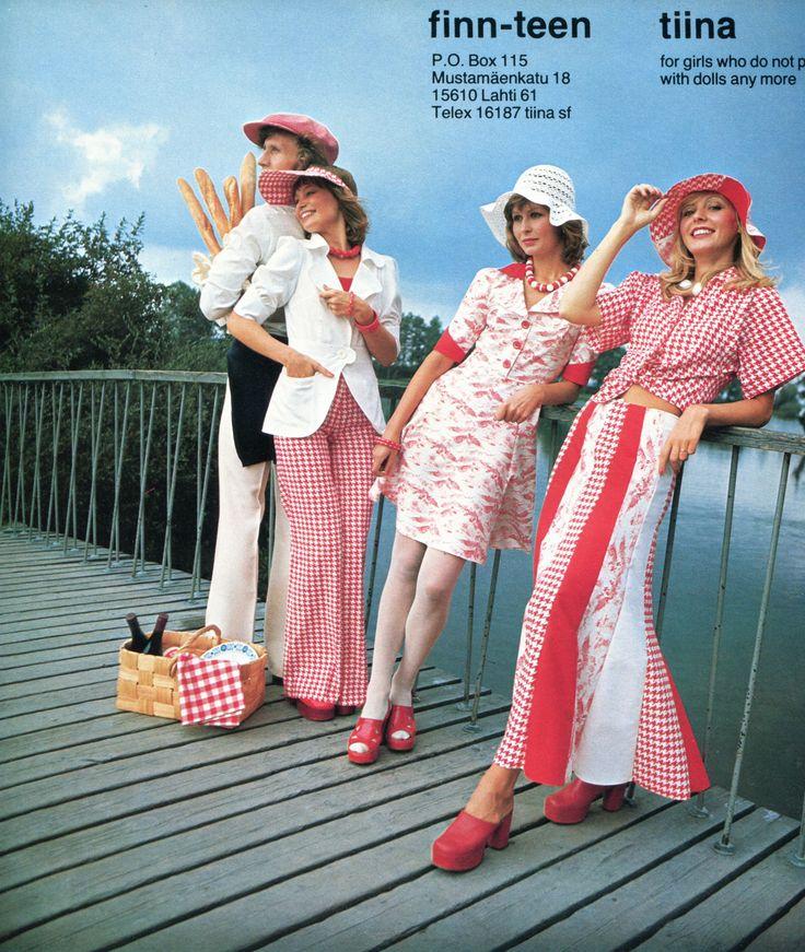 'Tiina' clothing line (Finn-Teen), 1970's, latter half.