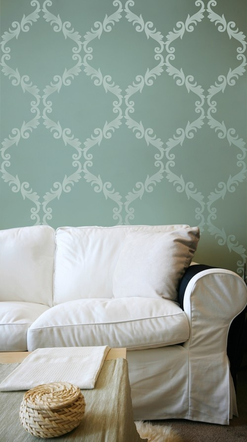 Best 25+ Wall Stencil Designs Ideas On Pinterest | Wall Stenciling