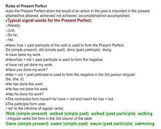 Some critical Ielts Tips: Tense About Tenses? Rules of Present Perfect