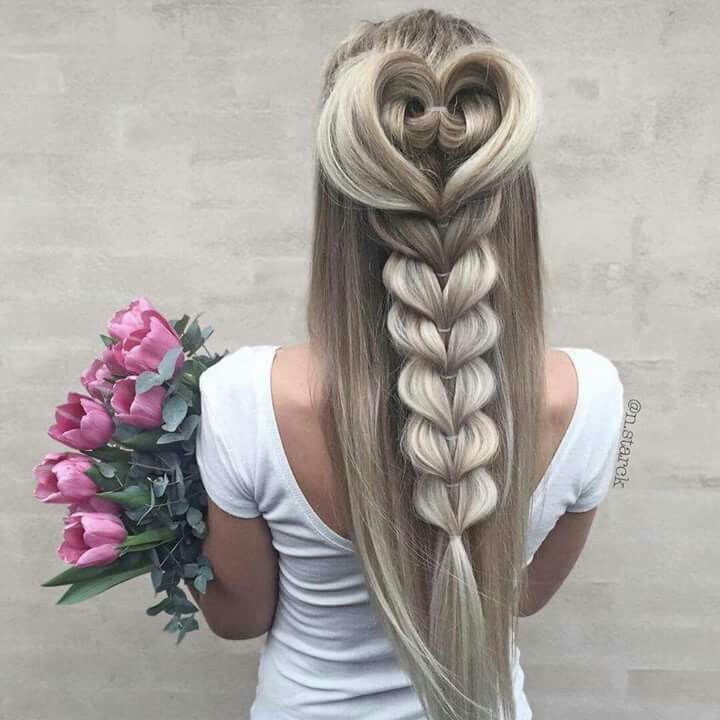 ❤  #penteados #tranças #criativos