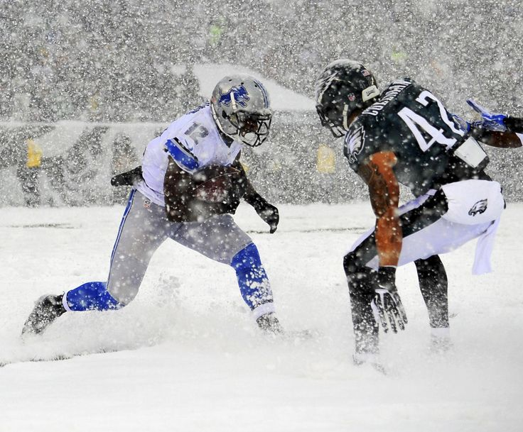 Detroit Lions competed against the Philadelphia Eagles in this brutal snowstorm