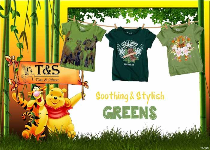 Soothing & Stylish Greens #clothing collection for #kids ..... Pick from >>> http://talesandstories.com/