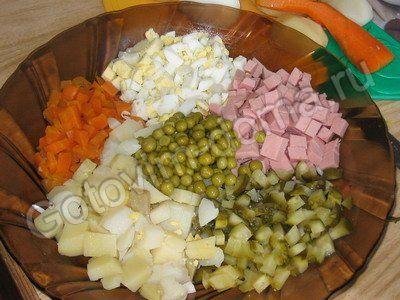 Рецепт салата олевье на английском языке