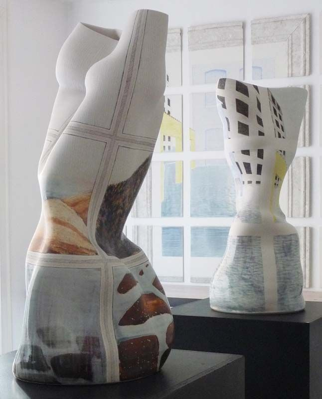 Ann Linnemann Two Ceramic Pieces From Her Illusion Exhibition Contemporary Ceramics