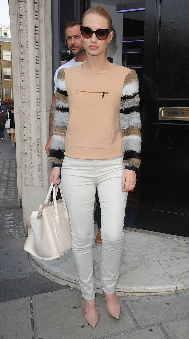 Iggy Azalea Looked Fancy in Fur on the Streets of London