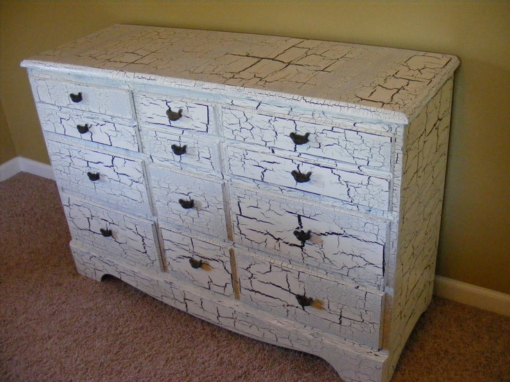 crackle paint for furniture