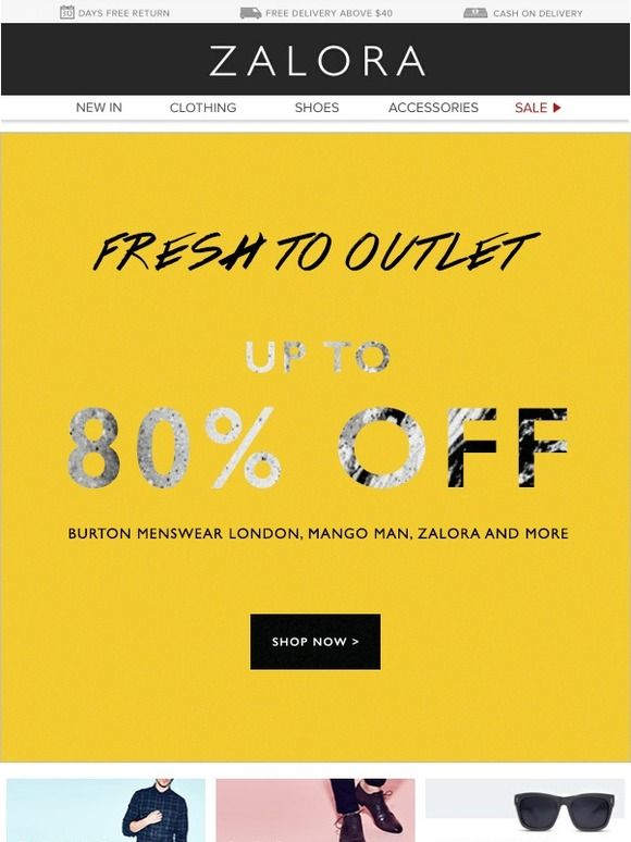 Let's SALE-brate - Up to 80% off everything! - ZALORA SG