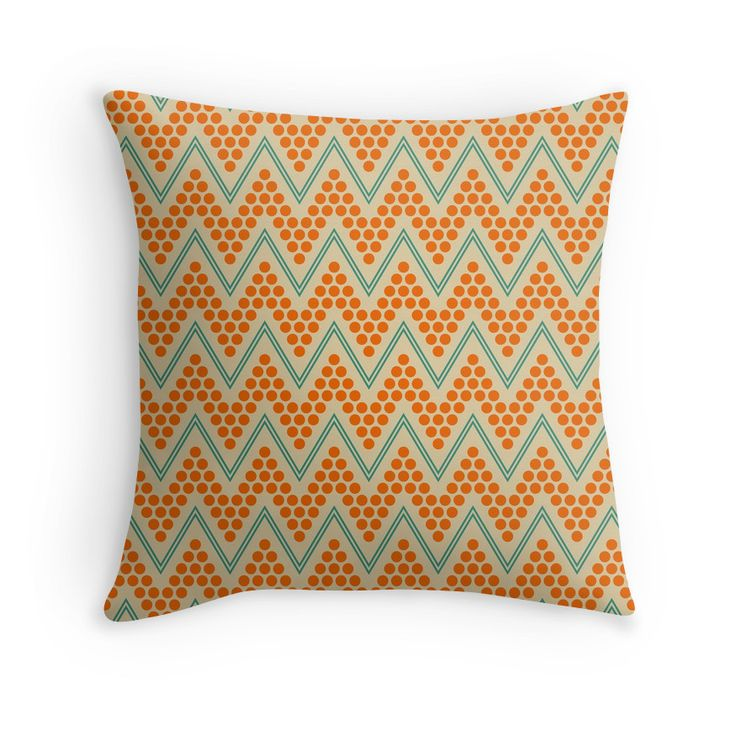 Geometric chevron pattern by Luna Princino. Visit RedBubble for more prints. #throw #pillow #lunaprincino #home #decor #design #interior #pretty #print #redbubble #beautiful #pattern #gift #idea #decorative #geometric #geometry #chevron #zigzag #beige #orange #teal #turquoise #abstract #trendy #cute #ornament #ornate #print #prints
