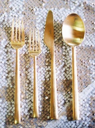 Modern gold flatware- LOVE