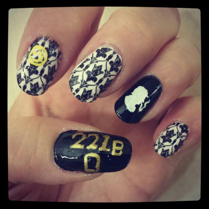 Sherlock nail art