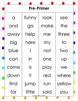 FREE!!  This set of Sight Words (High Frequency Words) covers words for Pre-Primer, Primer, First Grade, Second Grade, Third Grade, Fourth Grade, and Fifth Grade. Each grade level has a one-page sight word list with the 4th grade having a short list and a long list.  Print these Sight Word lists out for easy reference. They have been listed in alphabetical order to make it easy to find a word and instantly know what level it is.