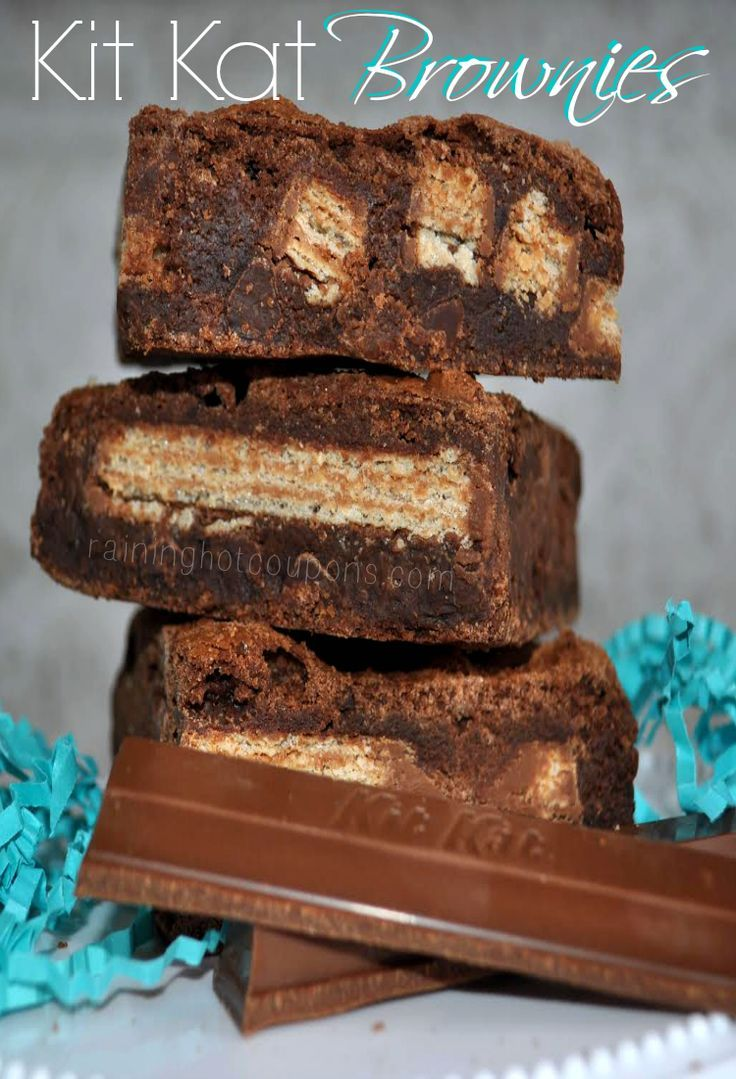 Kit Kat Brownies...jeans just got tighter looking at the picture!!...YUM!!