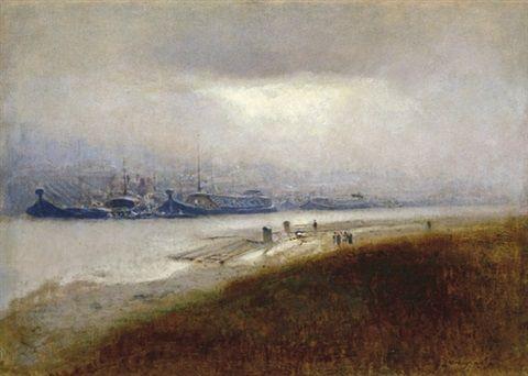 Barges around by LászlóMednyánszky